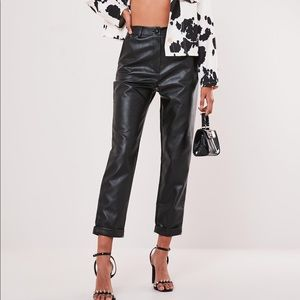 Brand new never worn faux leather pants